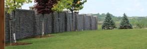 Clôture de béton